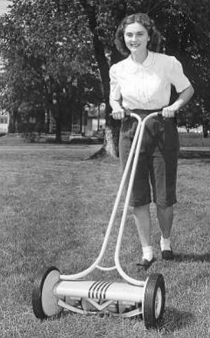 Push mower, c. 1940s