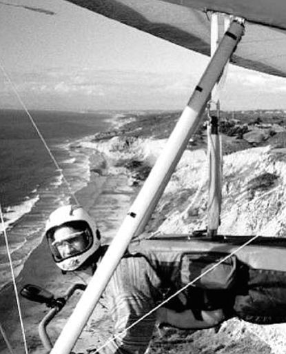 Hang gliding over Torrey Pines