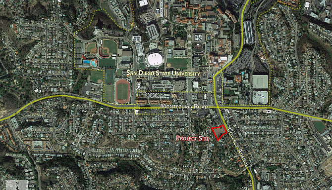 Location of 5030 project site