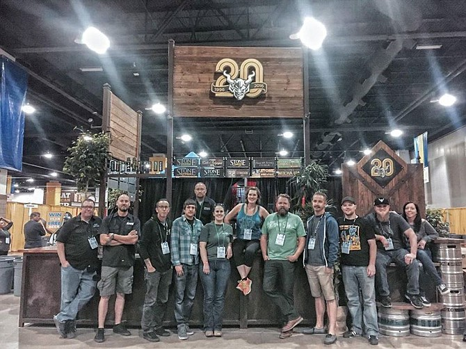 """""""Team Stone"""" representing Stone Brewing at October's Great American Beer Festival."""