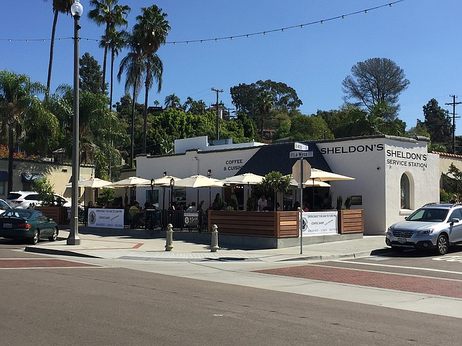 Sheldon's Service Station on La Mesa Blvd. is a cafe built at the site of an old gas station.