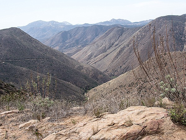 San Diego River canyon view from the preserve