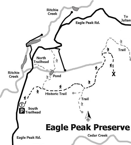 Eagle Peak Preserve trail map