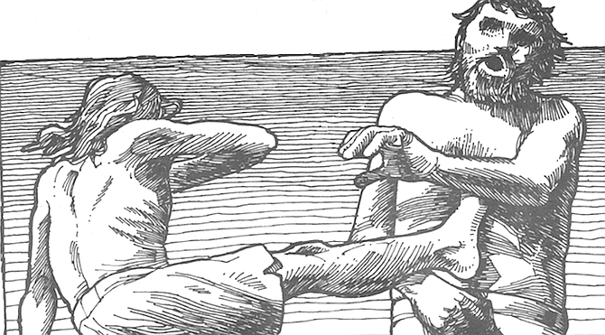 At first, his karate demonstrations seemed like aggressive splashing games while he waited for waves to bodysurf.