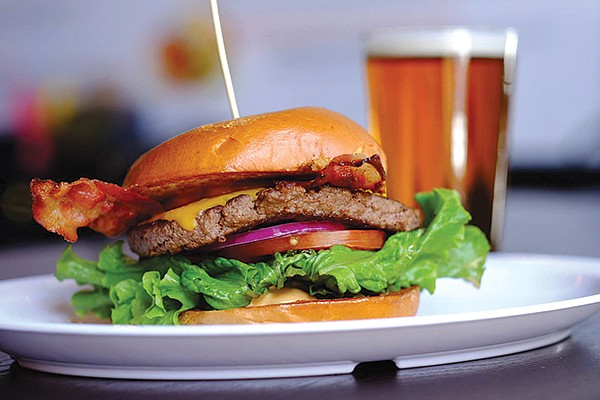 Rey Knight, owner and brewmaster of Finest Made Ales, recommends pairing Alpine Beer Company's McIlhenney's Irish Red with a bacon cheeseburger from Anny's Fine Burgers.
