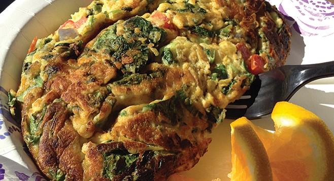 My omelet. French-style shape looks like brains, tastes like mmm