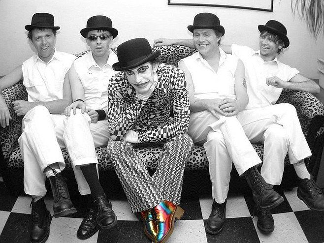 Brit-punk droogies the Adicts take the stage at Observatory North Park on Tuesday.