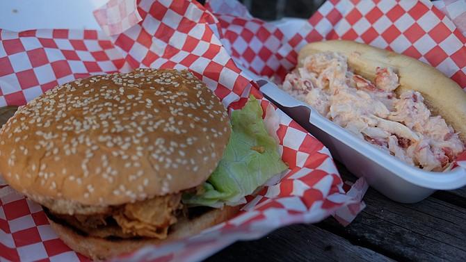 Fried-cod sandwich and a low-key lobster roll