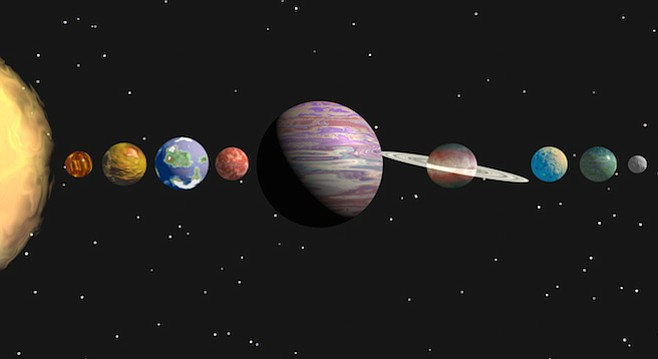 """""""A conjunction occurs when two astronomical objects or spacecraft have either the same right ascension or the same ecliptic longitude, usually as observed from Earth."""" — Wikipedia - Image by Goce Risteski"""