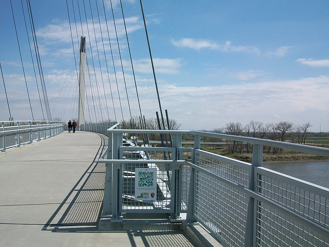 Beautiful Bob Kerrey Pedestrian Bridge.