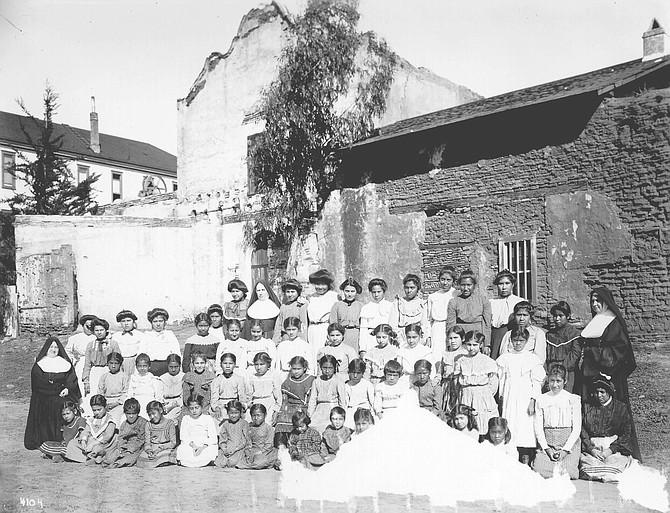 Indians at Mission San Diego de Alcalá c. 1900