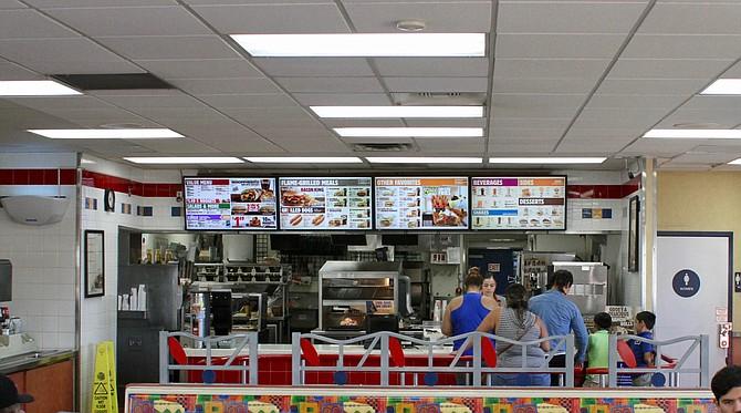 Inside view and futuristic menu screens