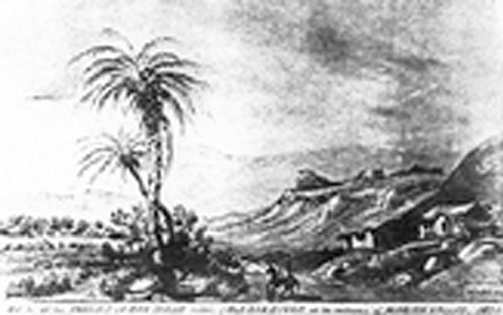 Artist's rendering of Presidio, 1874