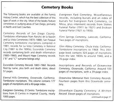 How to Do Genealogical Research in San Diego | San Diego Reader