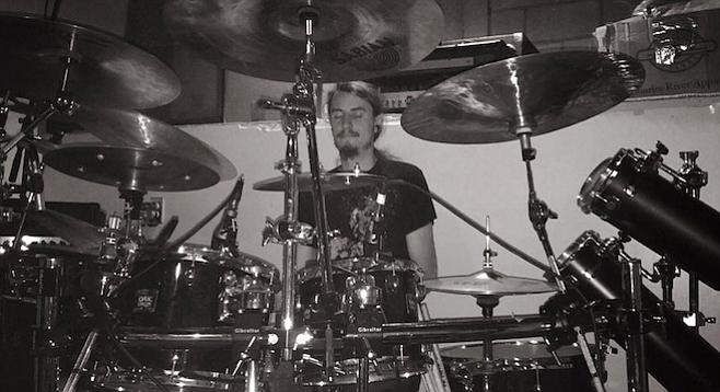 """""""I think I can accurately say we're a melodic death-metal band, heavily influenced by progressive and black metal,"""" says Ashen Earth drummer Ben Wilson."""