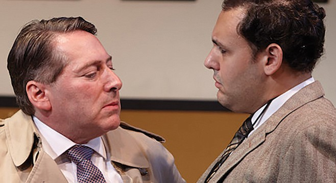 David Ellenstein (left) as Max Prince and Nicholas Mongiardo-Cooper as Val