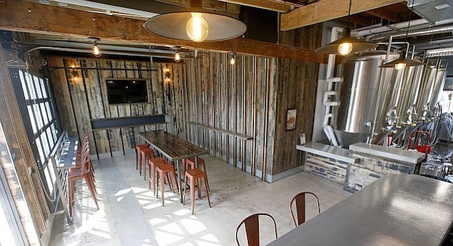 Eppig Brewing's tasting room and brewhouse