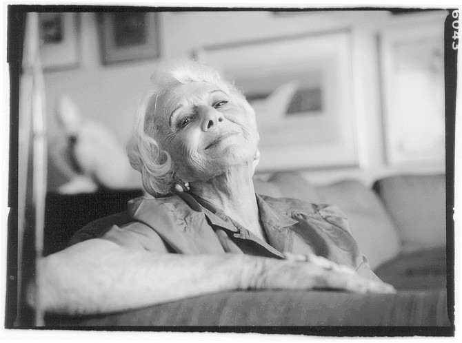 Marcella Rabwin. In 1987, due to Dr. Rabwin's failing health, they sold the house and bought the Balboa Park condominium to be close to UCSD Medical Center. - Image by Sandy Huffaker, Jr.