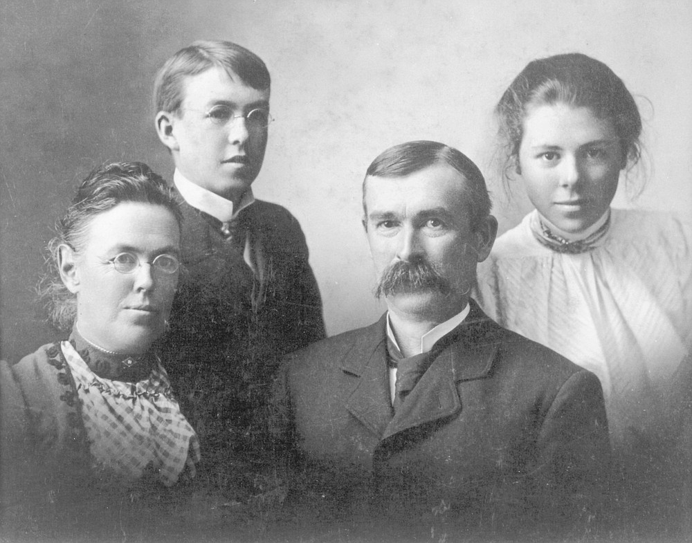 Dr. Charlotte Baker and family. It was advertised that over half the people in this city were consumptive.