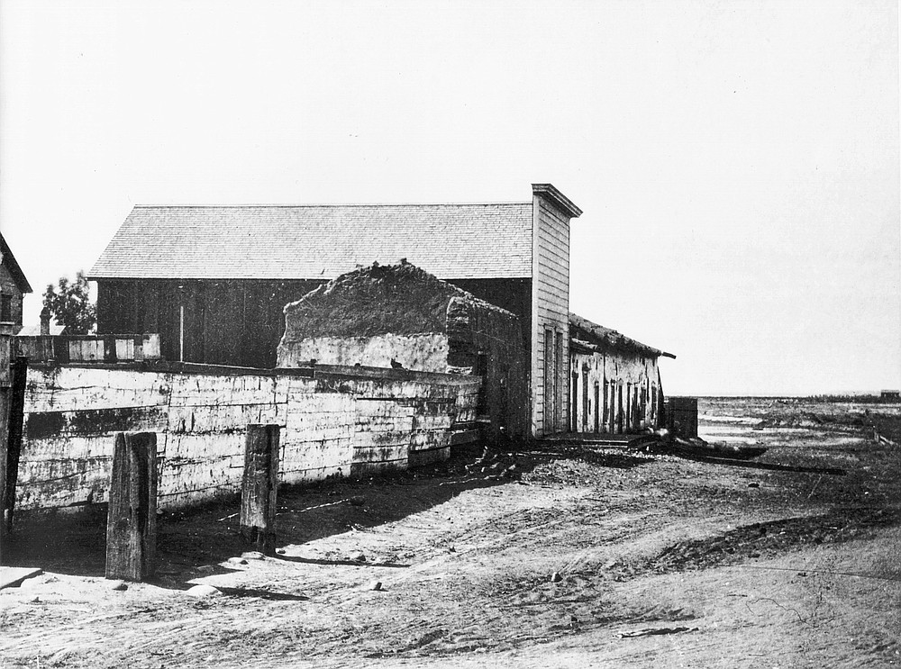 Remnants of Fitch Snook house, early 1900s