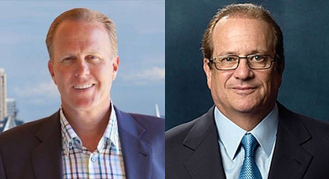 Kevin Faulconer and Dean Spanos