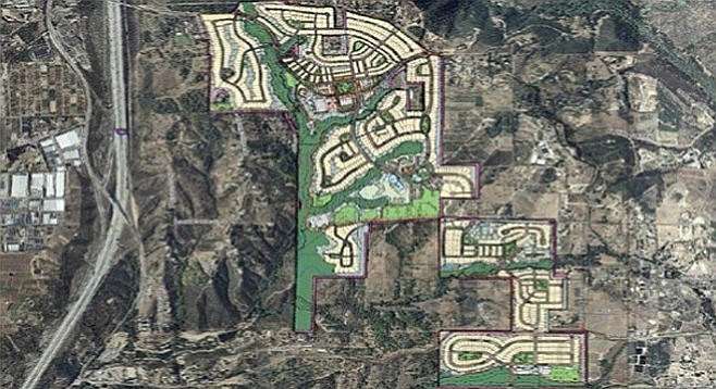 Proposed site of development (east of I-15)