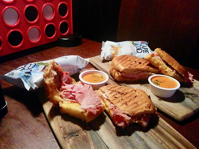 Cubano and Pacific Press sandwiches from Tipsy Crow