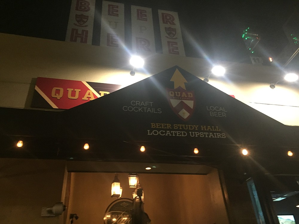 Quad Alehouse is located above Gaslamp Tavern on Fifth Avenue