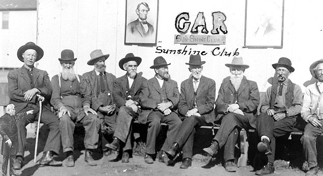 Surviving members of the Grand Army of the Republic, Oceanside, 1912.