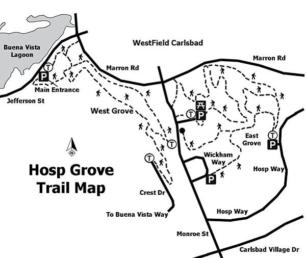Hosp Grove trail map