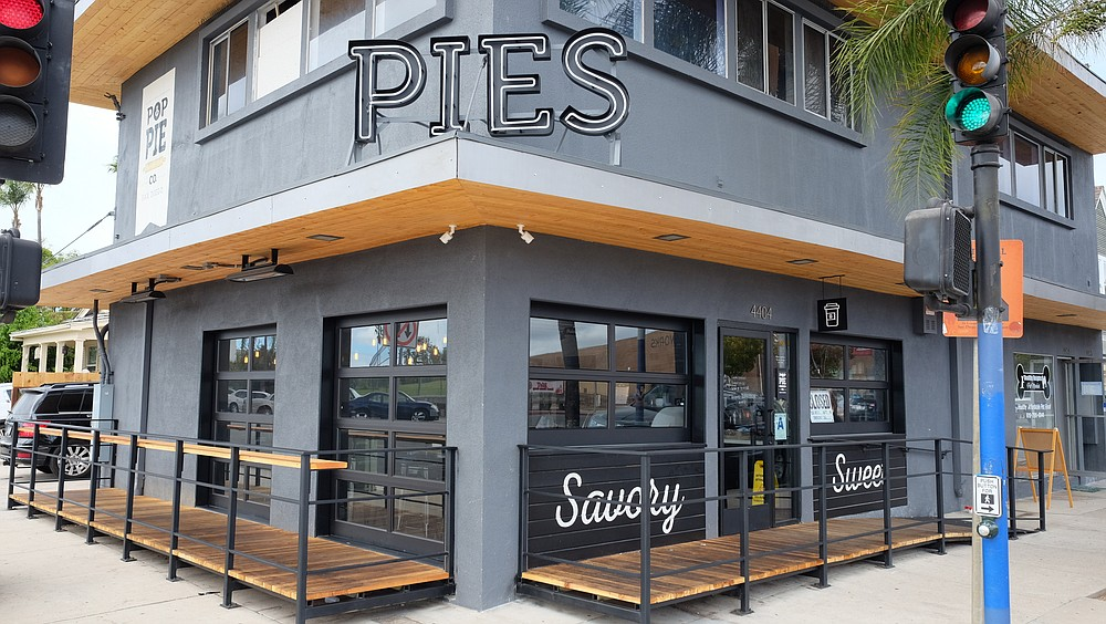 Pies are the focus of this shop on the corner of Park and Meade.