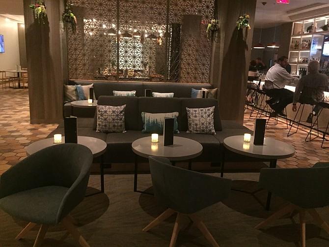 The interior of Drift, a newly opened restaurant at the Hyatt Regency in La Jolla.
