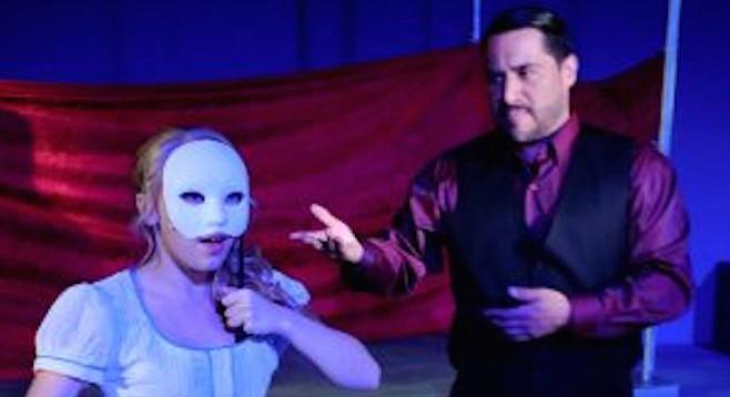 Olivia Hudson and Rudy Martinez in The Fantasticks