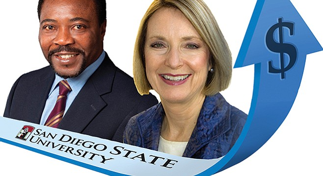 """SDSU executives Chukuka Enwemeka and Mary Ruth Carleton each pulled in over $25,000 for """"established goals met."""""""
