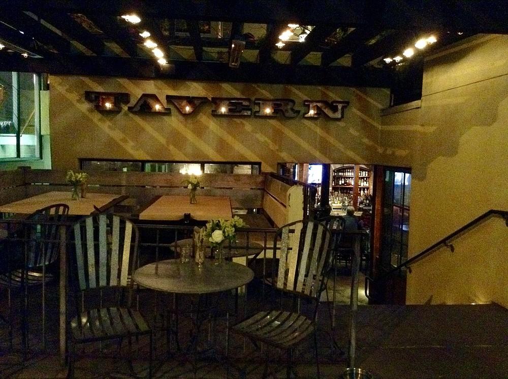 Down these stairs lies Coronado's semi-underground pub, the Tavern.