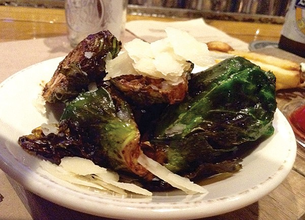 Brussels sprouts, sweet, tangy, charred right