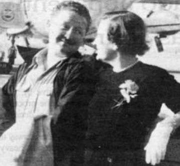 The author's parents, c. 1955