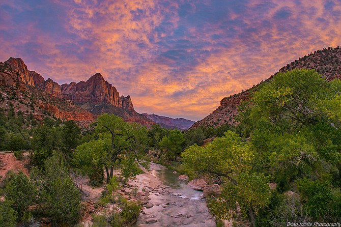 Zion National Park, The Watchman, at Sunset.