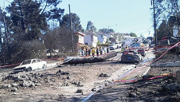 Aftermath of the San Bruno pipeline explosion, 2010