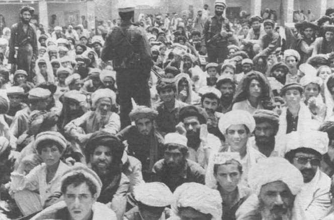 Villagers in Kalawar, 1990. Afghanistan is a world at once frightening and seductive to a Westerner.