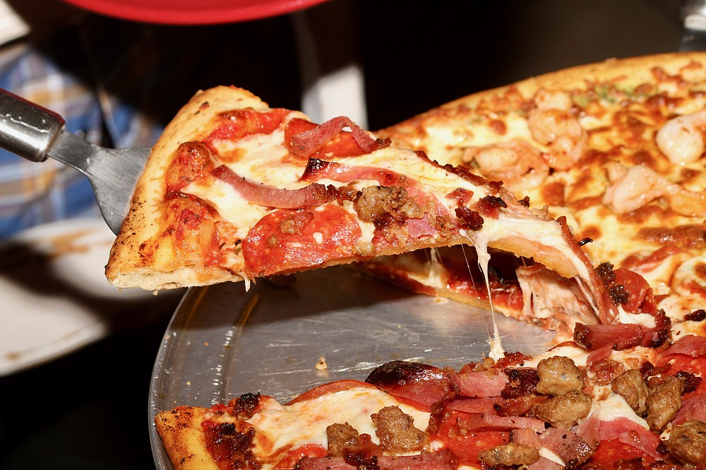 A slice of the Meat Lovers