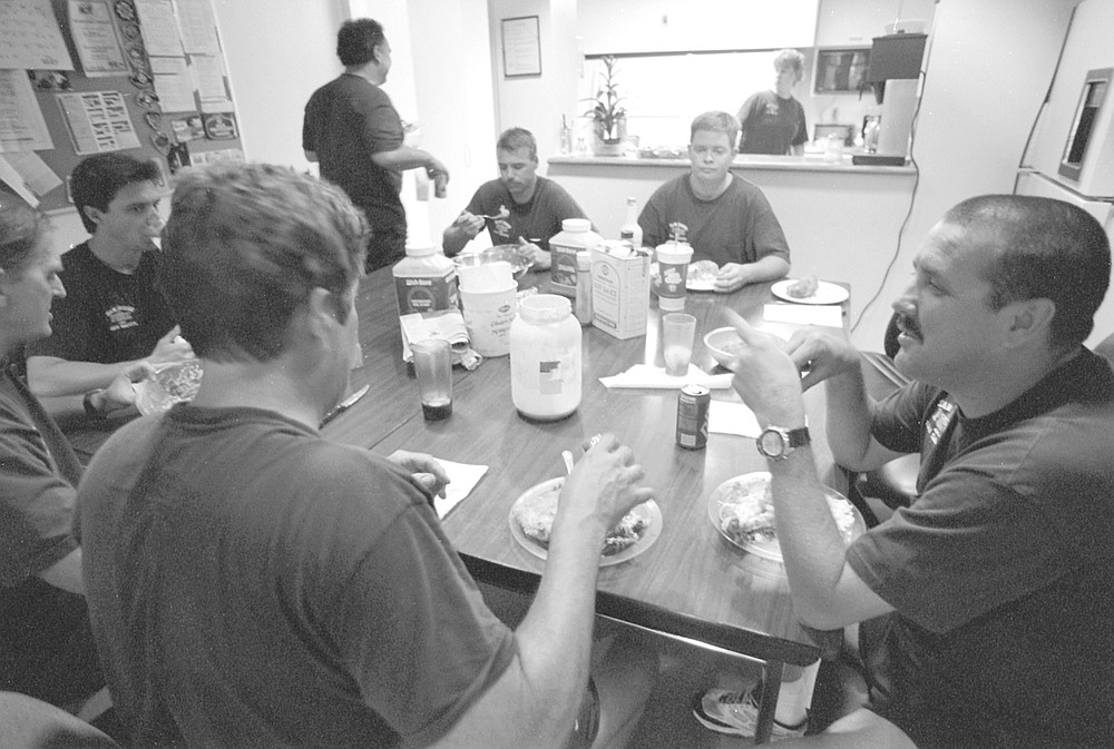 Chow time at Station 14