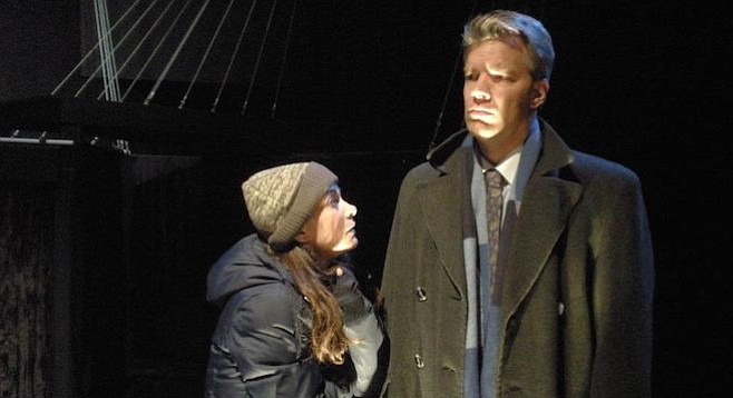 Jason Heil (as Joe Pitt) in Angels in America (with Jessica John), ion theatre company, 2011