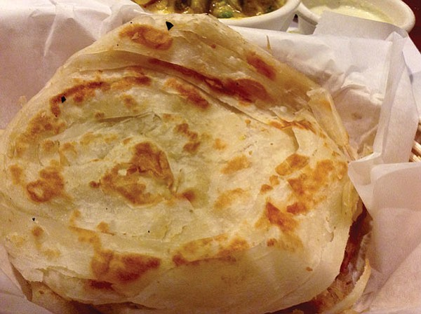 Malabar paratha bread, delicate as phyllo pastry
