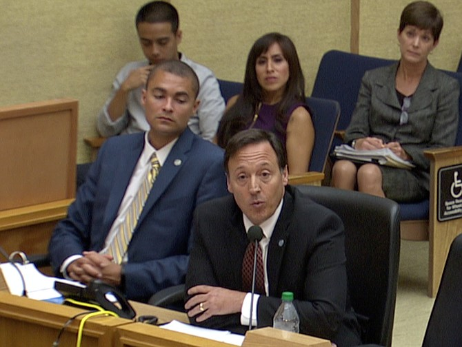 Development Services Director Vacchi at the October city council hearing.