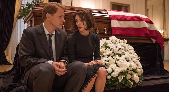 Peter Sarsgaard and Natalie Portman in Pablo Larrain's mesmerizing Jackie.