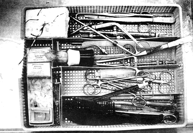 Coroner's tools. These professionals have made careers out of exploring the human body for the cause of its final malfunction.