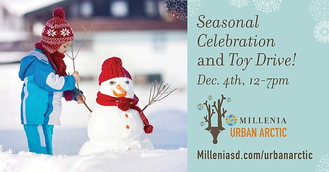Urban Arctic Winter Fest & Toy Drive Dec 4 from 12 - 7 pm