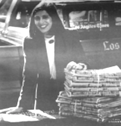 L.A. Times San Diego edition general manager Phyllis Pfeiffer in happier times