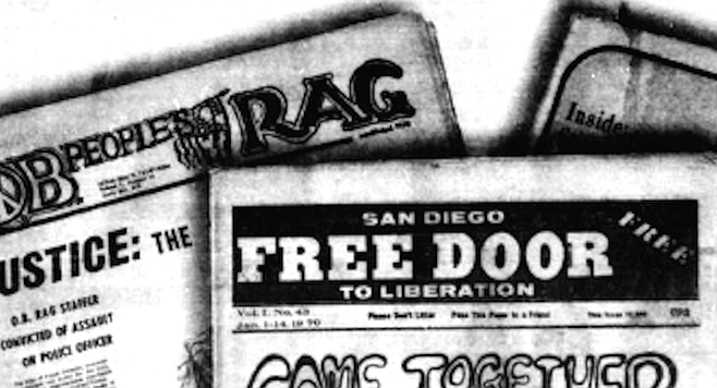 Using the underground press as a gauge, the social ferment of the 1960s came late to San Diego.